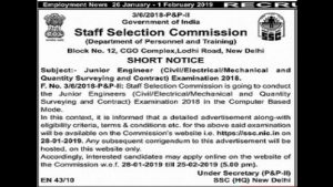 SSC-JE-Recruitment-2019