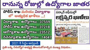 Upcoming ts govt jobs