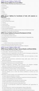 APPSC Group 2 Syllabus 2021_ Both Prelims & Mains Exam Pattern