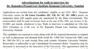 Uttarakhand assistant professor vacancy