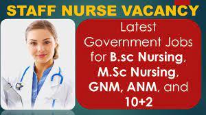 staff nurse vacancy govt