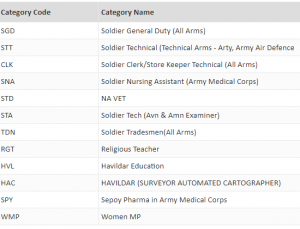 Army rally soldier posts category coides