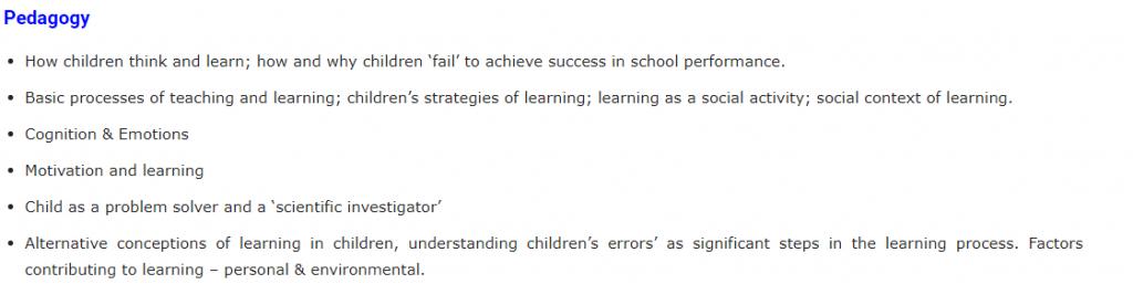 Education curriculum