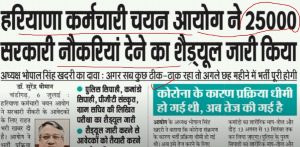 haryana govt jobs 2021 2500 posts
