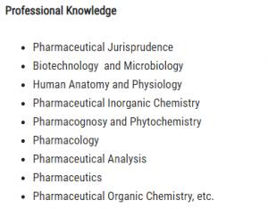 pharmacist syllabus